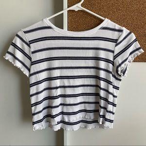 CROP TEE STRIPED
